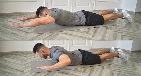 Как делать упражнение Плавание на полу
