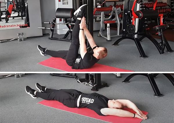 Как делать подъем ног лежа на полу поочередно
