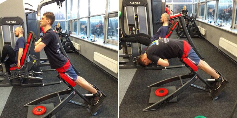 Гперэкстензии скручивания для глубоких мышц спины