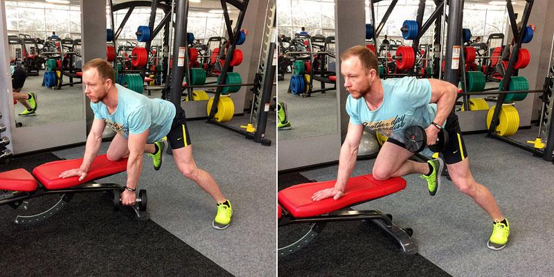 Упражнения с гантелями для спинных мышц для мужчин thumbnail