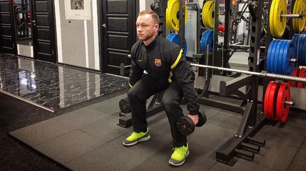 Упражнения на ноги с гантелями в домашних условиях