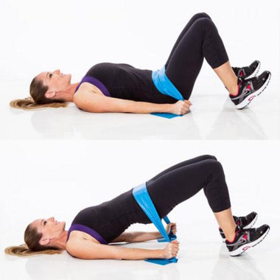 Варианты упражнения с резиновой лентой