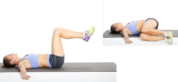 Повороты ног лежа на спине