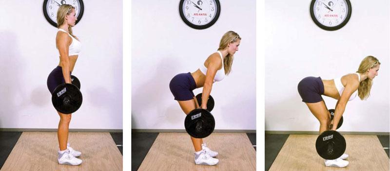 Как делать упражнение Мертвая тяга